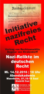 Flyer Initiative nazifreies Recht